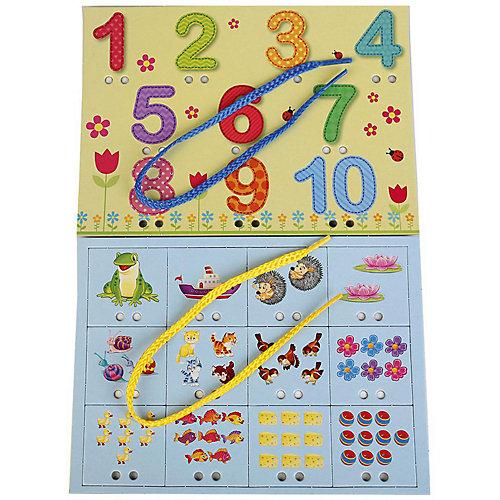 Настольная игра-шнуровка Умка «Цифры»
