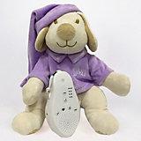 Игрушка для сна Собачка DrЁma BabyDou с белым и розовым шумом, фиолетовый