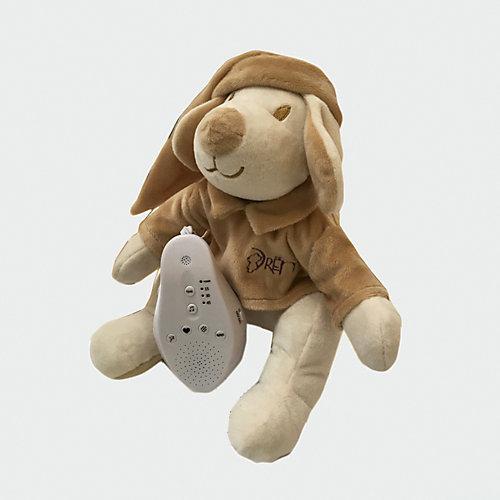 Игрушка для сна Собачка DrЁma BabyDou с белым и розовым шумом, бежевый от Drema BabyDou