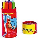 Фломастеры с толстым стержнем Giotto Bebe' Jmbo Fibre Pens, 10 цветов