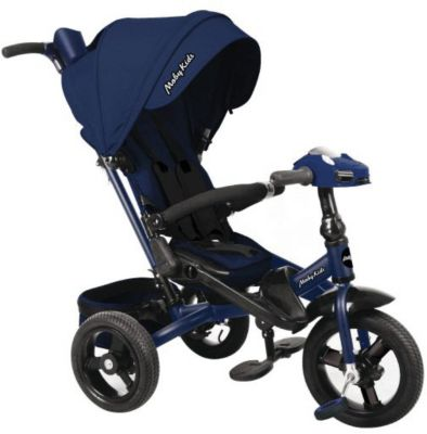 Трехколесный велосипед Moby Kids New Leader 360° 12x10, темно-синий