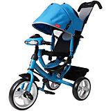 Трехколесный велосипед Moby Kids Comfort 12x10, синий