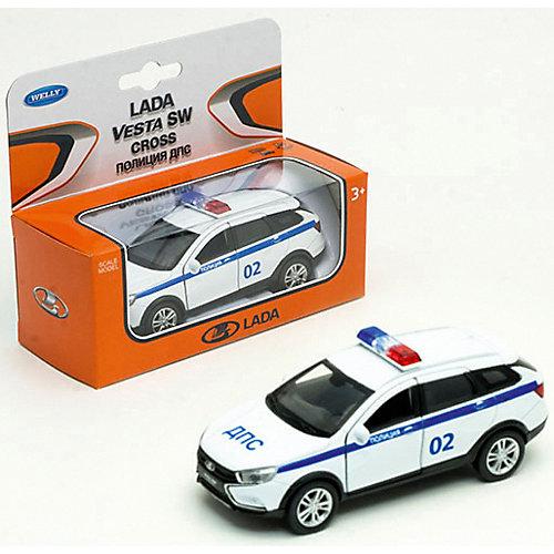 "Машина Welly Lada Vesta Sw Cross ""Полиция ДПС"" от Welly"