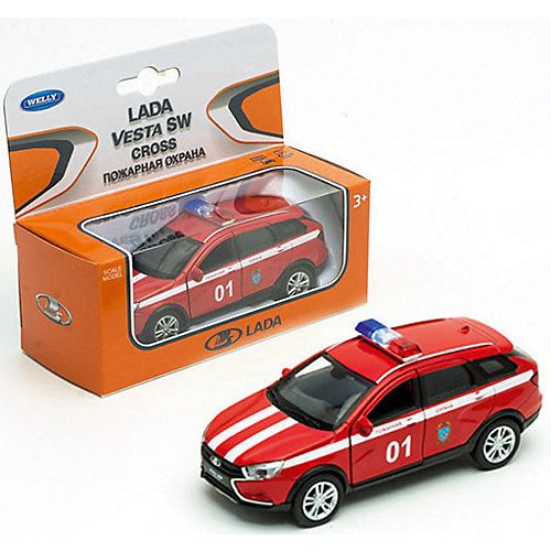 "Машина Welly Lada Vesta Sw Cross ""Пожарная охрана"" от Welly"