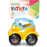 Машинка-неразбивайка ЯиГрушка Yatoya, сине-жёлтая