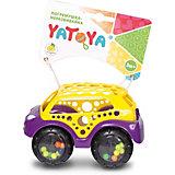 Машинка-неразбивайка ЯиГрушка Yatoya, жёлто-фиолетовая