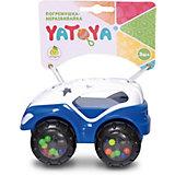 Машинка-неразбивайка ЯиГрушка Yatoya, бело-синяя