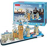 """Сборная модель CubicFun """"Достопримечательности Лондона"""", 107 деталей"""