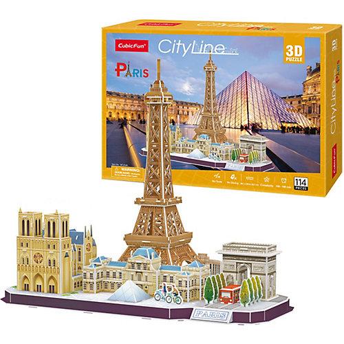 """Сборная модель CubicFun, """"Достопримечательности Парижа"""", 114 деталей от CubicFun"""