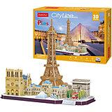 """Сборная модель CubicFun, """"Достопримечательности Парижа"""", 114 деталей"""