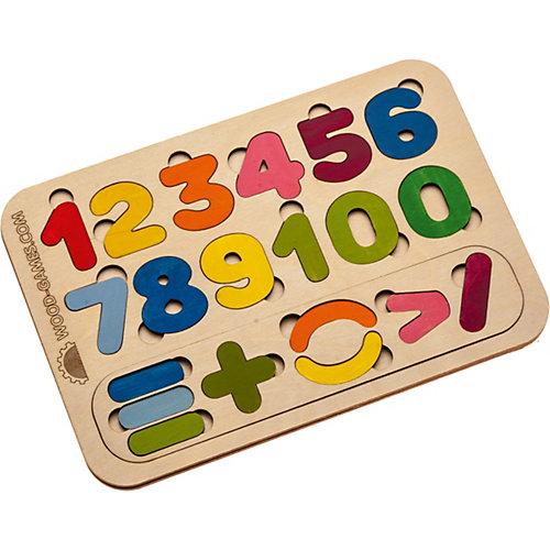 Рамка-вкладыш деревянная Bradex «Цифры и счёт»