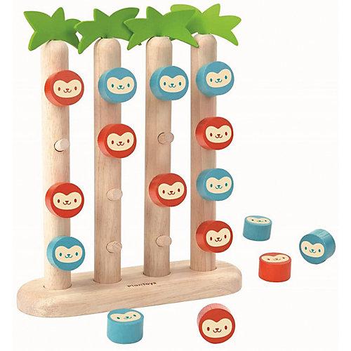 """Настольная игра Plan Toys """"Четыре обезьянки в ряд"""""""