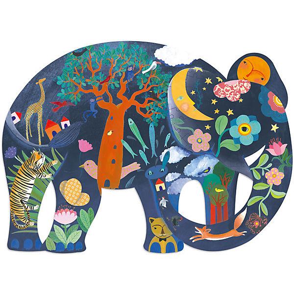 Kunstpuzzle Elefant, 150 Teile, DJECO ILKPbn