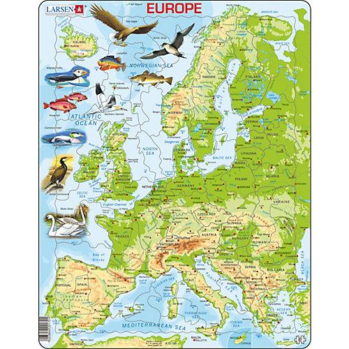"""Пазл Larsen """"Европа"""", на английском языке от Larsen"""