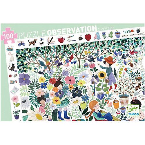 """Пазл на наблюдательность DJECO """"Цветочный сад"""", 100 деталей от DJECO"""