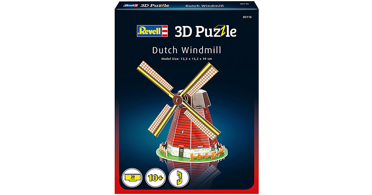 3D-Puzzle Windmühle, 20 Teile