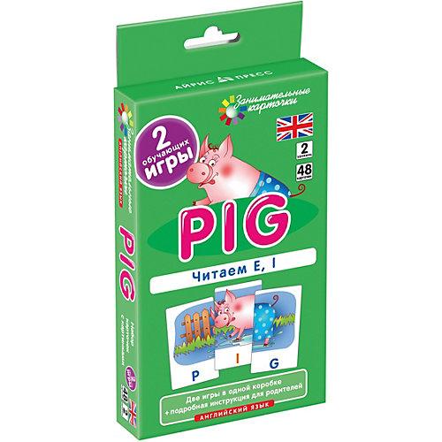 """Занимательные карточки """"Английский язык: Поросенок (Pig)"""" Level 2, Клементьева Т. от АЙРИС-пресс"""