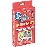 """Занимательные карточки """"Английский язык: Слон (Elephant)"""" Level 4, Клементьева Т."""