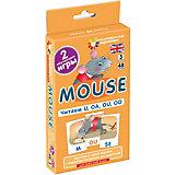 """Занимательные карточки """"Английский язык: Мышонок (Mouse)"""" Level 3, Клементьева Т."""