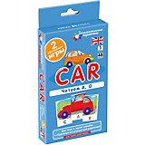 """Занимательные карточки """"Английский язык: Машина (Car)"""" Level 1, Клементьева Т."""