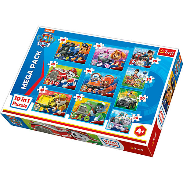 10in1 Puzzle PAW Patrol, 20/35/48 Teile - Exklusiv bei myToys