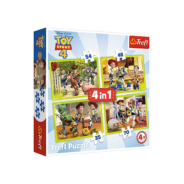 4in1 Puzzle 35/48/54/70 Teile - Toy Story