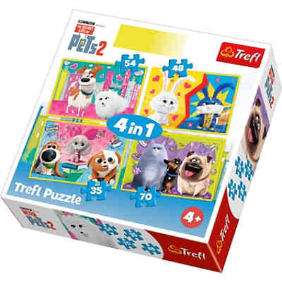 4in1 Puzzle 35/48/54/70 Teile - Secret Life of Pets 2