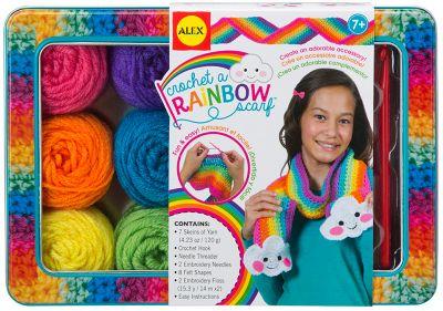 Набор для вязания крючком Alex «Радужный шарф»
