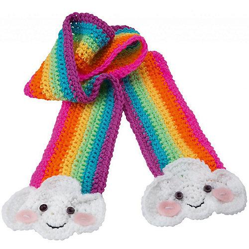 Набор для вязания крючком Alex «Радужный шарф» от ALEX