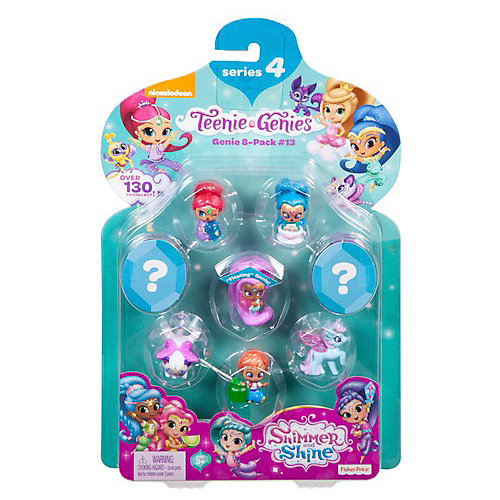 """Набор фигурок Fisher-Price Shimmer&Shine """"Тини Джинники"""" Набор № 13, 8 шт от Mattel"""