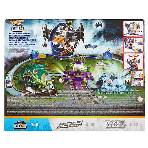 Автотрек Hot Wheels Gotham City Бэтмен, Пещера летучих мышей от Mattel