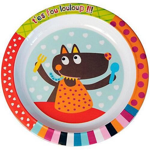 """Тарелка Ebulobo """"Волчонок"""" - разноцветный от Ebulobo"""