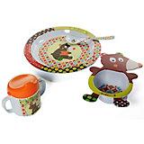 """Набор посуды Ebulobo """"Мишка"""", 4 предмета"""