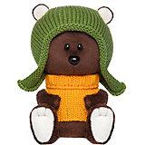 Мягкая игрушка Budi Basa лЕсята Медведь Федот в шапочке и свитере, 15 см