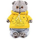 Мягкая игрушка Budi Basa Кот Басик в спортивном костюме, 25 см