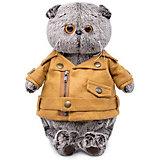 Мягкая игрушка Budi Basa Кот Басик в куртке-косухе, 25 см