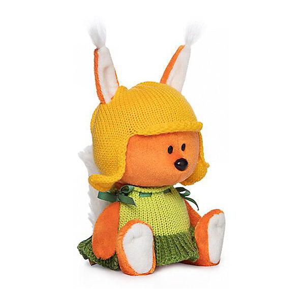 Мягкая игрушка Budi Basa лЕсята Белка Бика в шапочке и платье, 15 см