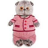 Мягкая игрушка Budi Basa Кот Басик в красном пиджаке и брюках в ёлочку, 25 см