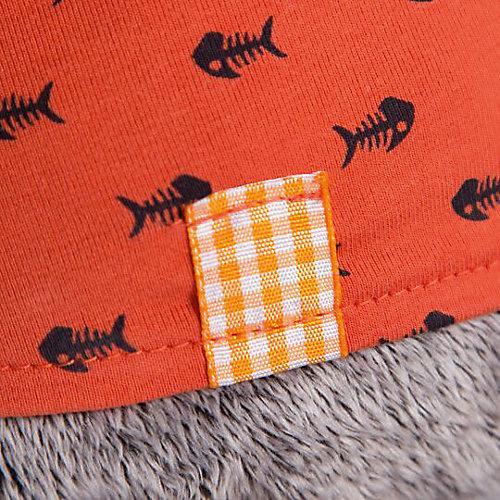 Мягкая игрушка Budi Basa Кот Басик в оранжевой футболке в рыбки с львенком, 25 см от Budi Basa