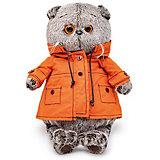 Мягкая игрушка Budi Basa Кот Басик в куртке с капюшоном, 25 см