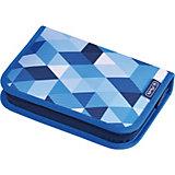 Пенал Herlitz Blue Cubes с наполнением