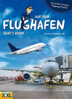 Buch - Auf dem Flughafen geht's rund, mit Flugzeug-Poster