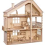 Кукольный дом ХэппиДом Гранд коттедж с верандой и мебелью