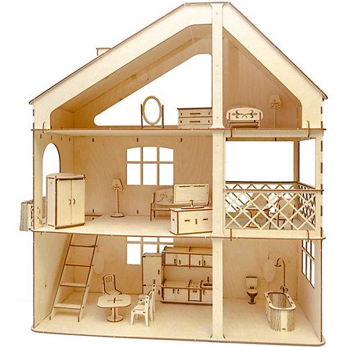 Кукольный дом ХэппиДом Гранд коттедж с верандой и мебелью от ХэппиДом