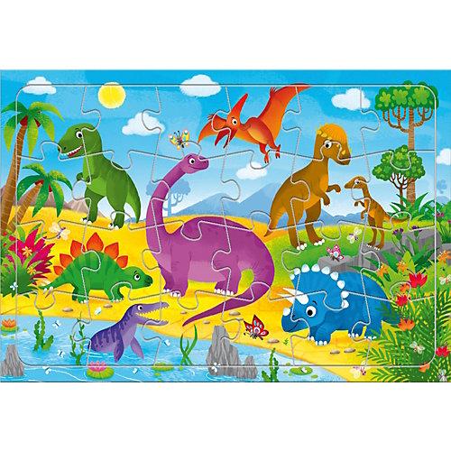 """Пазл Геодом """"Динозавры"""", 24 элемента от ГеоДом"""