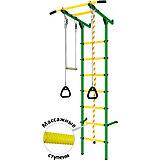Детский спортивный комплекс DSK Пристенный, зеленый/желтый