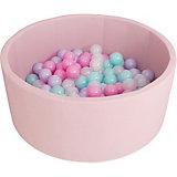 Сухой бассейн Romana Airpool, розовый + 150 шариков