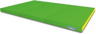 Мягкий щит Romana Kid в 3 сложения, 1,5 метра, светло-зеленый/желтый
