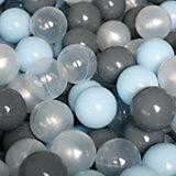 Шарики для сухого бассейна Romana Airpool, 150 шт (голубой, серый, жемчужный, прозрачный)