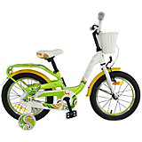 Двухколесный велосипед Stels Pilot-190 16, зелёный/жёлтый/белый